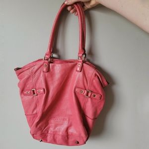 Liebeskind pink leather tote bag with strap